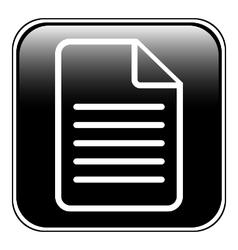 Document icon on white vector