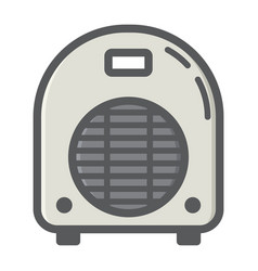 electric fan heater colorful line icon household vector image vector image