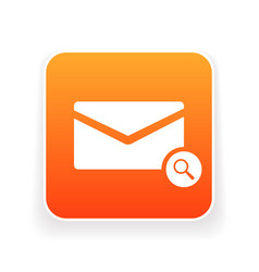 email icon with research sign vector image