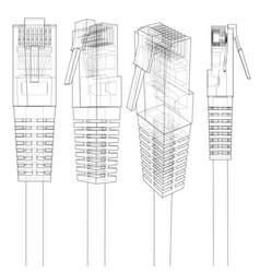 Ethernet connector rj45 vector