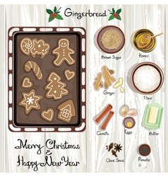 Gingerbreads vector