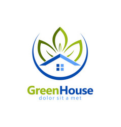 green house garden realty logo vector image