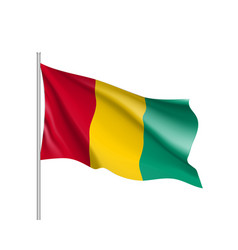 guinea realistic flag vector image vector image