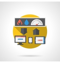 Home technology round color detailed icon vector