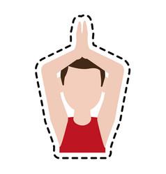 Man doing yoga yogi icon image vector