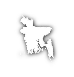 Map of bangladesh with shadow vector