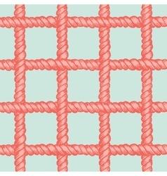 Marine rope net seamless pattern vector