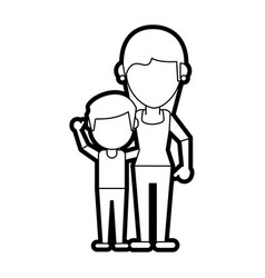 mom and son design vector image
