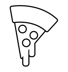 pizza icon outline line style vector image