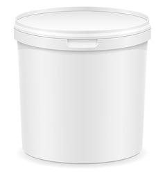 Plastic container for ice cream or dessert 02 vector
