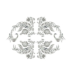 Royal design element silver flowers vector
