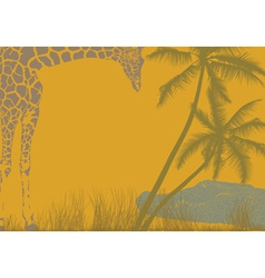 Safari animal background vector image vector image