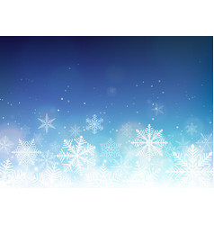 snowflake background blue winter christmas vector image