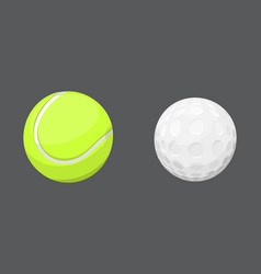 sport balls isolated tournament win round golf vector image vector image