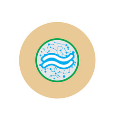 Stylish icon in color circle element zodiac vector