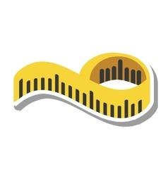Tape measure isolated icon vector