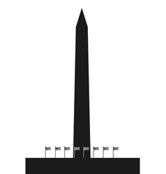 The washington monument vector