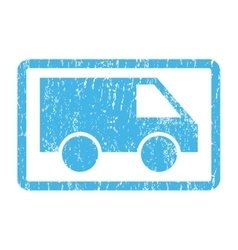 Van Icon Rubber Stamp vector image vector image