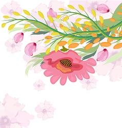 Watercolor fuchsia flower vector