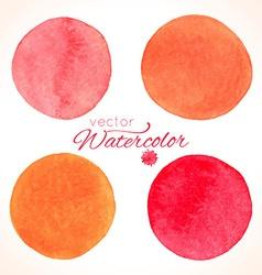Watercolor painted splash circles vector image vector image