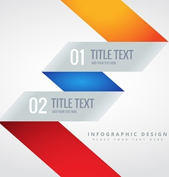 Colorful infographic ribbon vector