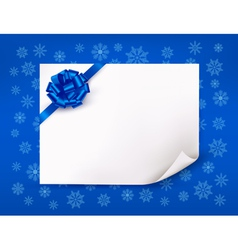 Christmas blue background with sheet of paper vector