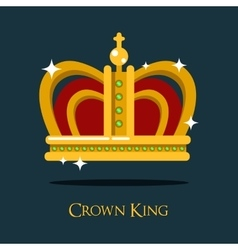 Royal king or queen crown pope tiara icon vector