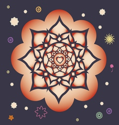 Beginning of spring power mandala vector