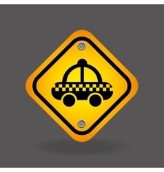 Taxi yellow road street sign vector