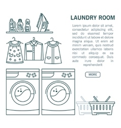 Linear laundry room vector