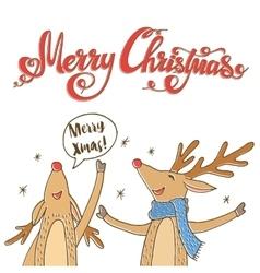 Cheerful Christmas Reindeer vector image