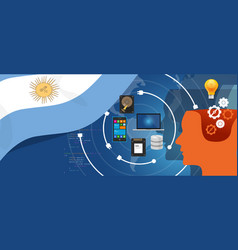 Argentina it information technology digital vector