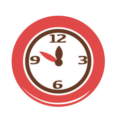 Simple red clock vector