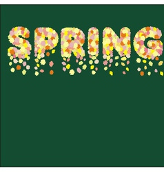 Spring flowers in spring title vector image