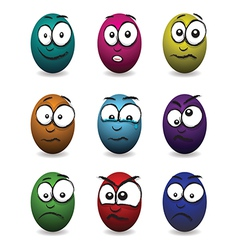 Emotions eggs coloured group vector