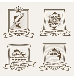 Salmon badges vector