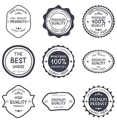 Set of retro vintage hand draw badges and labels vector