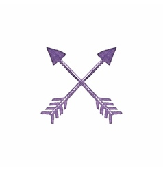 Crossed arrows Native american indian arrow vector image