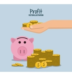 Profit icon design vector