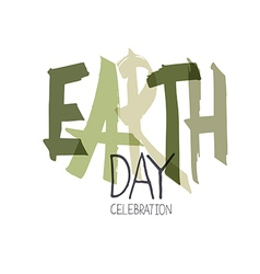 Handwritten earth day calebration typography vector