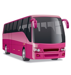 Pink comfortable city bus vector