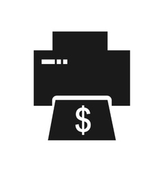 Flat icon in black and white money printing vector