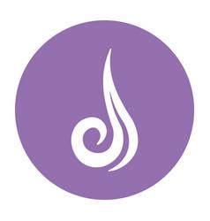abstract air symbol on a circle vector image