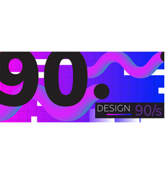 Abstract retro background back to 90s vector