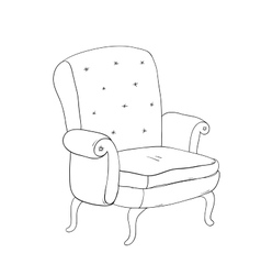 Beautiful vintage brown chair vector