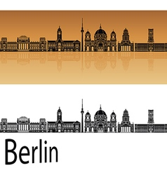Berlin V2 skyline orange vector image vector image