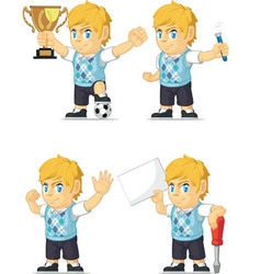 Blonde rich boy customizable mascot 19 vector