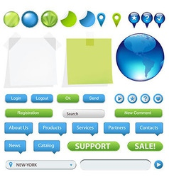 Collection Of Website And GPS Navigation Elements vector image vector image