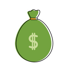 Color bag to save cash money with peso symbol vector
