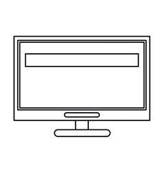 computer screen tool repair support outline vector image